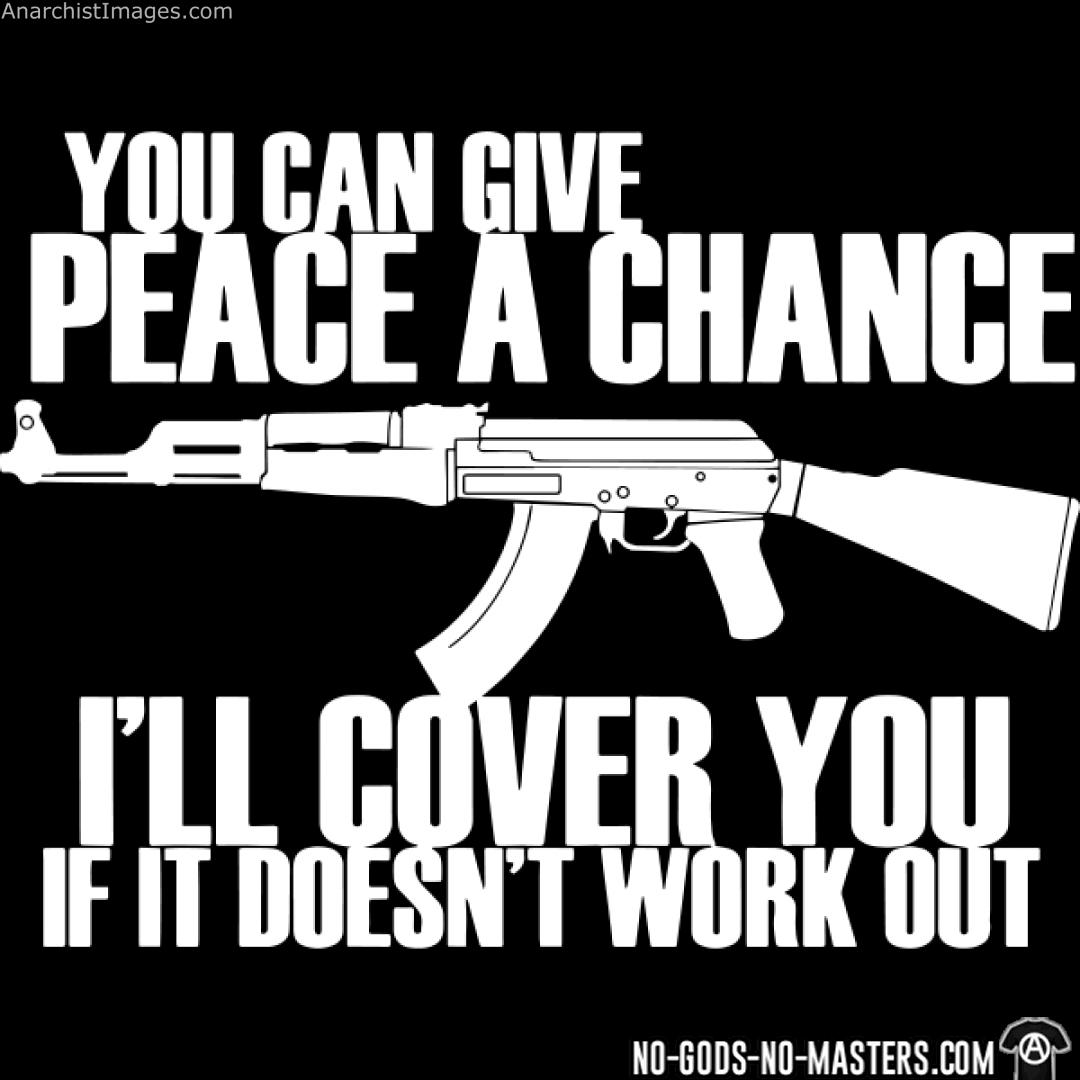 You can give peace a chance, i