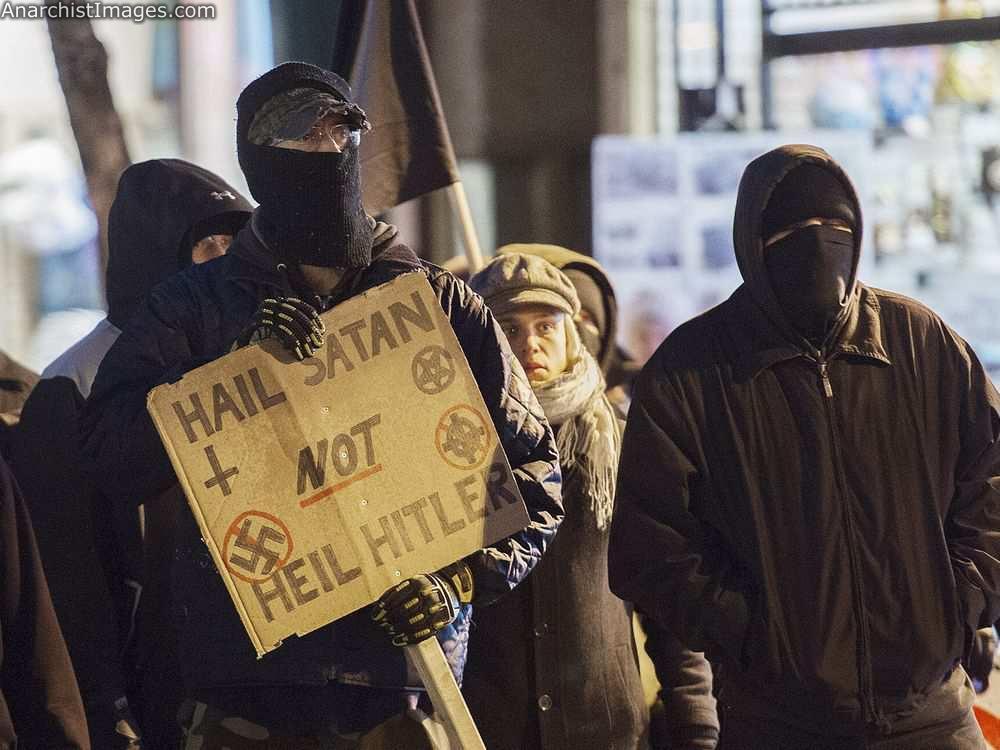 Anti NSBM (national socialist black metal) protest sign !