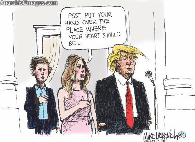 #Heartless #trump By Mike Luckovich AJC