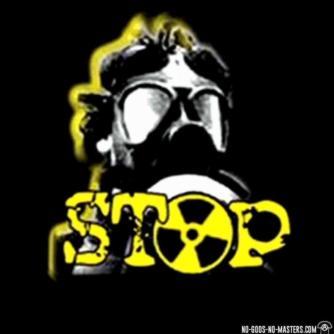 Stop nuclear communist political photo