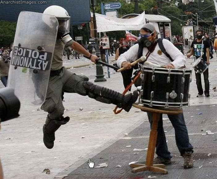 Cops are such instruments that are quick to attack any musician playing them under the notion that they are hurting (Actual photo from the 2011