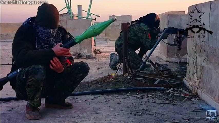 Anarchists fighting ISIS in the battle of Video:
